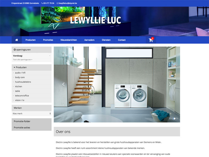 Luc Lewyllie website