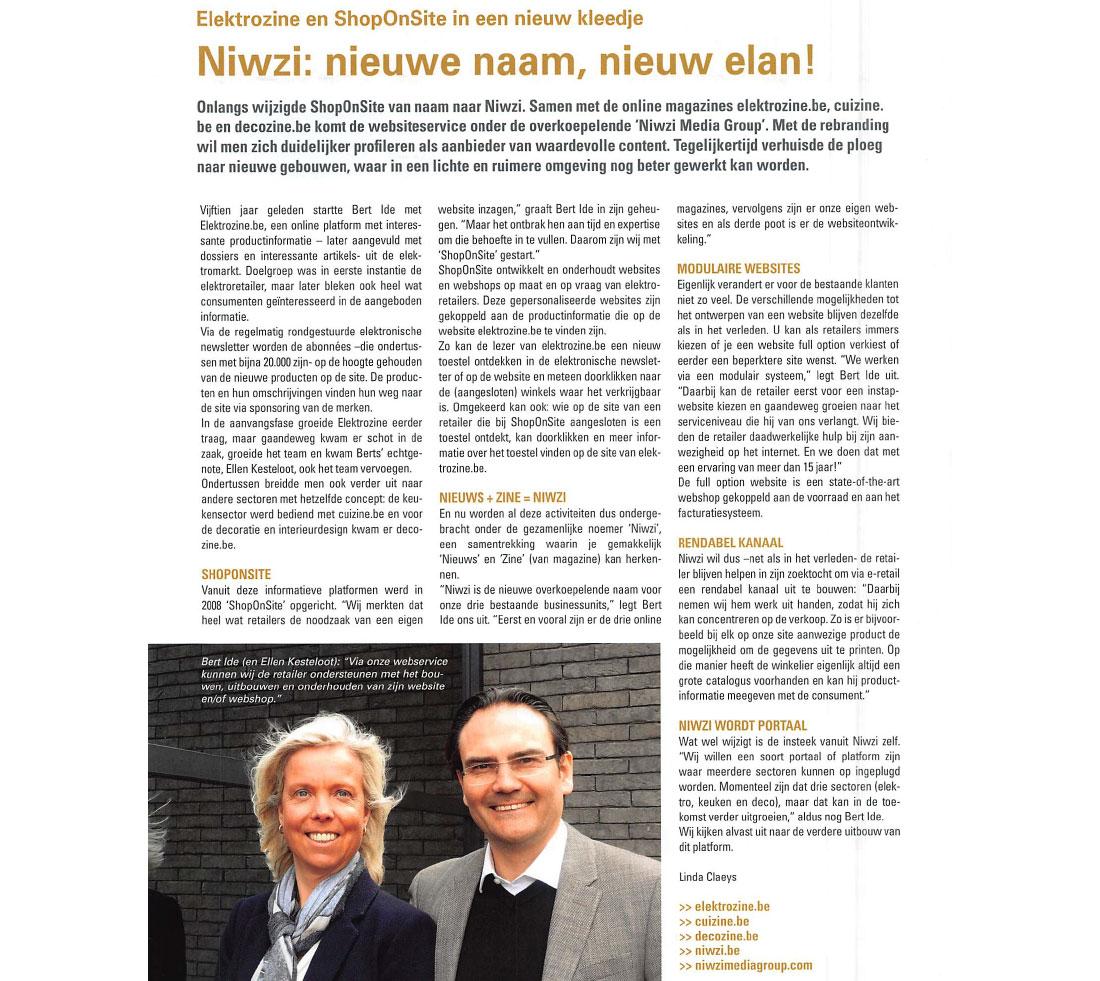 In De Pers: Artikel In Vakblad Elektro Verkoop