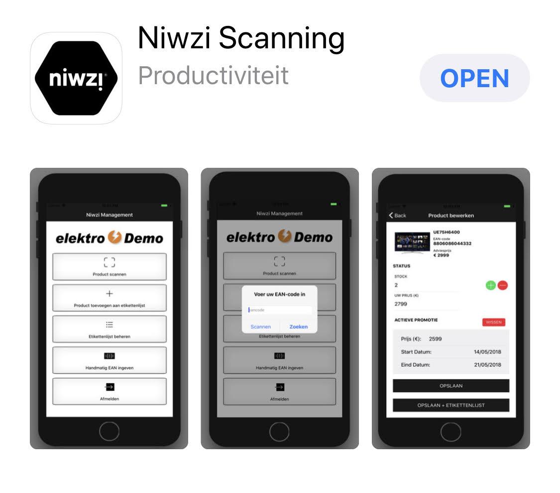 Scanning App In Uw Winkel Om Voorraad, Prijs En Etiketten Snel Af Te Printen